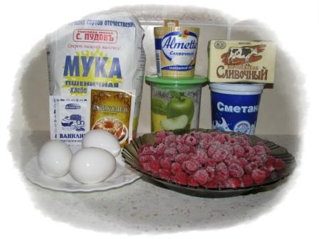 ингредиенты для пирога с ягодами -11