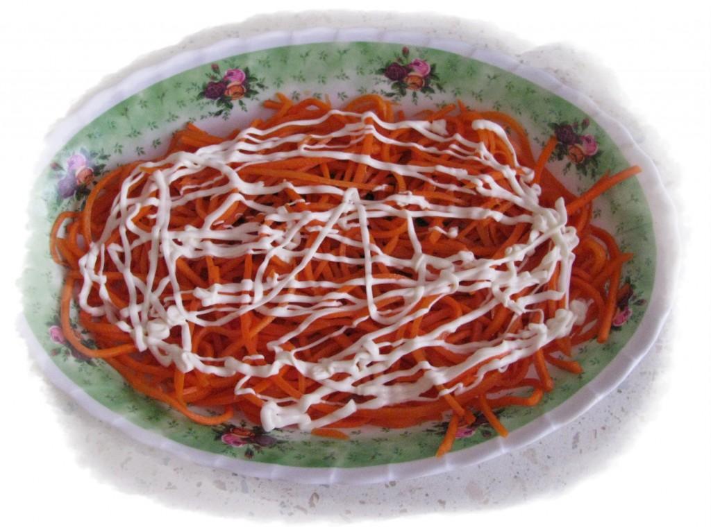 первый слой морковь майонез