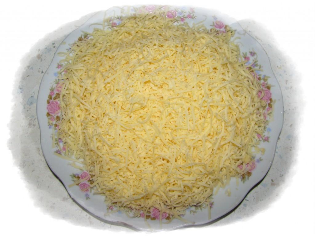 сыр потереть на мелкой тёрке