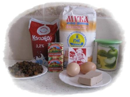 ингредиенты для приготовления булочек