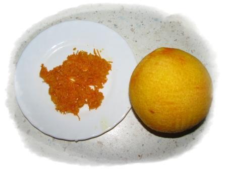 снять цедру с апельсина