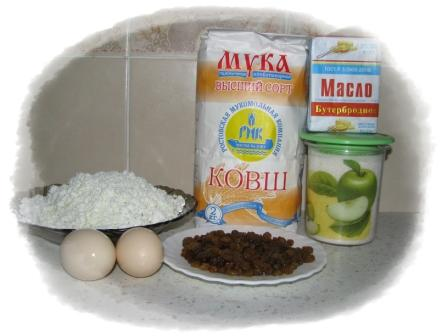 ингредиенты для ватрушек