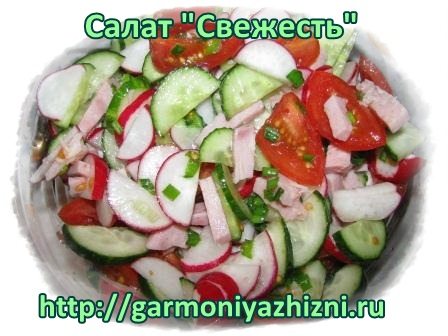 """салат """"Свежесть"""""""