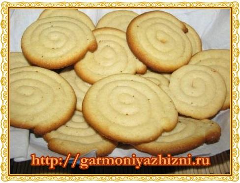 вкусное песочное печенье