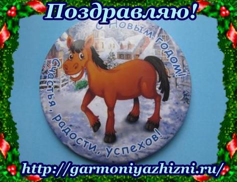 С Новым годом лошади!