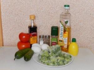 ингредиенты для салата с брокколи