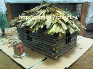 поделка домик из природного материала