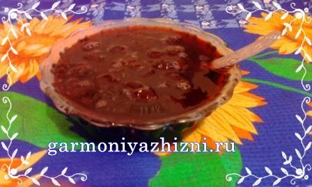 вкусное варенье из вишни