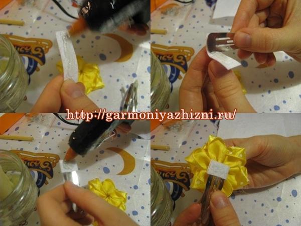 заколки и резинки канзаши