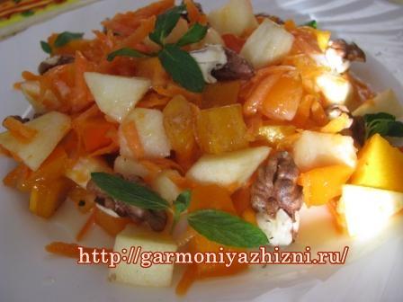 фруктовый салат с хуромой