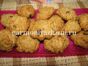 как приготовить постное овсяное печенье