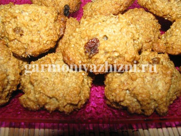 постное овсяное печенье рецепт с фото