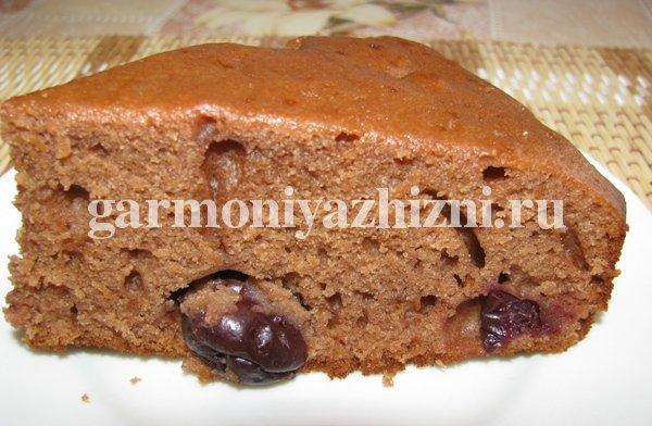 Постный пирог с вишней рецепт с фото
