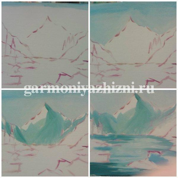 этапы рисования картины