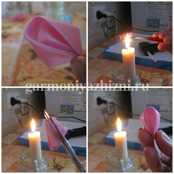 спаиваем лепестк на свече