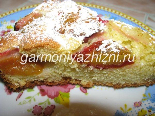 вкусный сливовый пирог рецепт с фото