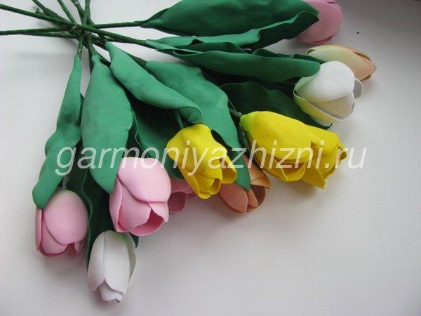 букет тюльпанов из фома