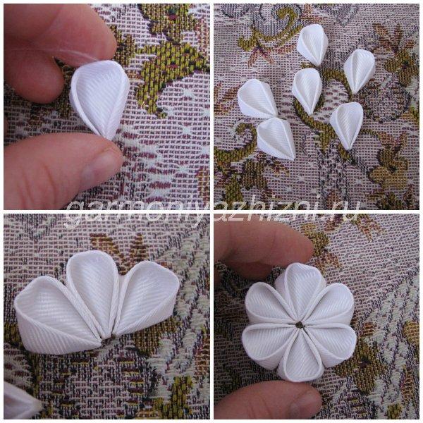 склеиваем цветок из круглых лепестков