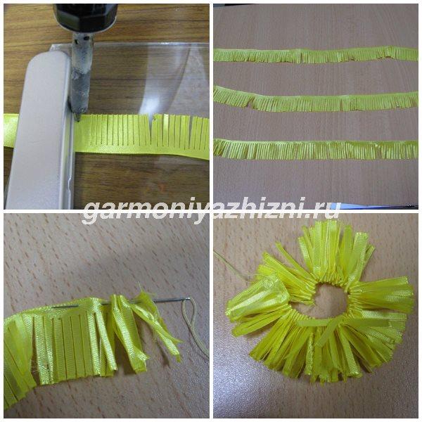 разрезаем паяльником желтую ленту 2,5 см