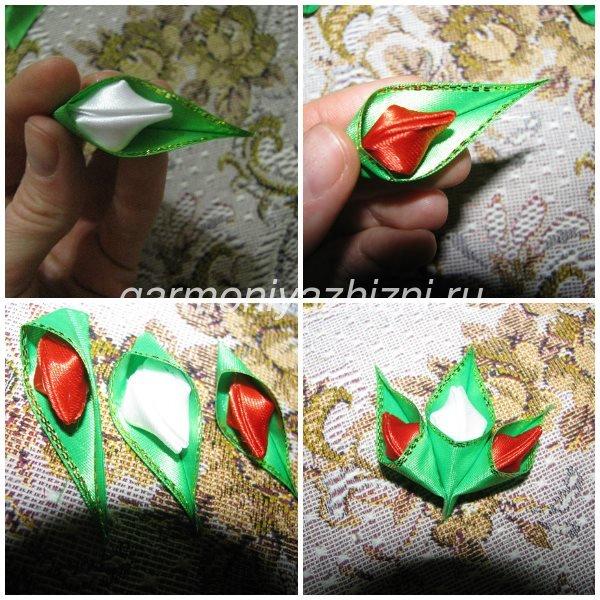 склеиваем тюльпаны и формируем букет