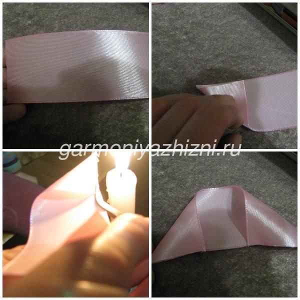 лепесток для пышного банта из ленты 4 см