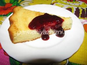 пирог на кефире и манке