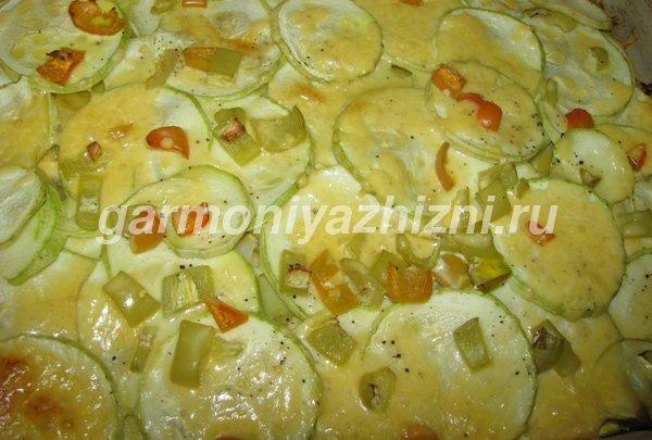 запеканка и кабачков с картофелем