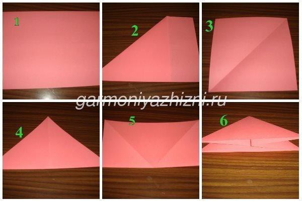 складываем тюльпан оригами