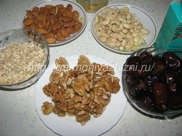 ингредиенты для сладкой колбаски